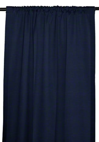 RSH Décor Sunbrella Indoor/Outdoor Curtain Drapery Panel with Rod-Pocket (Sunbrella Canvas Navy, 50