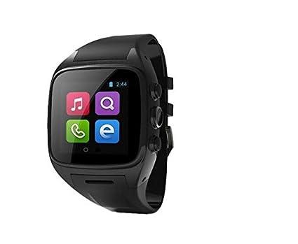 X01 Bluetooth Smart reloj teléfono 3 G WIFI GPS WCDMA Android SmartWatch resistente al agua reloj de pulsera podómetro apoyo tarjeta SIM Cámara: Amazon.es: ...