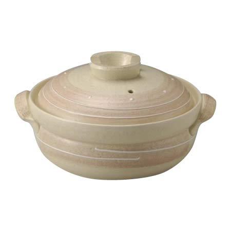 優しくて淡いピンクのIH対応土鍋! IH対応土鍋 ピンク一珍 8号 28-13760 〈簡易梱包   B07RN5H6ZV