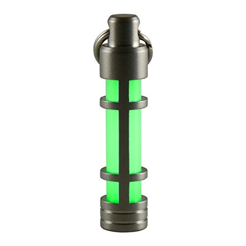 TEC Accessories [Next Generation] EMBRITE Glow Fob: Precision Glow in the Dark Keychain - Stainless Steel