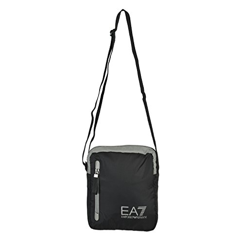 Emporio Armani EA7 Big Logo Unisex Black Cross Body Messenger Shoulder (Armani Shoulder Bag)