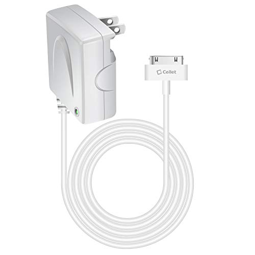 Wall Iphone 3g - Cellet 5 Watt (1 Amp) Home/Wall Charger Compatible for iPhone 4S/4/3GS/3G/2/1 iPad (1,2,3,4th Generation) iPod Touch (1,2,3,4th Generation) Nano (1,2,3,4,5,6th Generation) Shuffle (MFI Certified)
