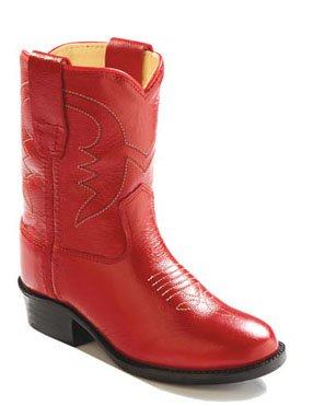Old West Kids Boots Baby Girl's Western Boot (Toddler) Red Boot 4 Toddler M -