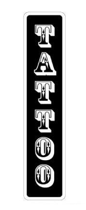 (TATTOO Street Sign signs shop tattoos designs ink | Indoor/Outdoor | 24