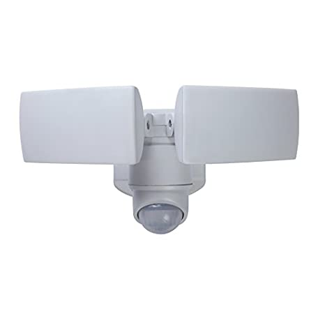 Utilitech 180 degree 2 head white integrated led motion activated utilitech 180 degree 2 head white integrated led motion activated flood light with aloadofball Image collections