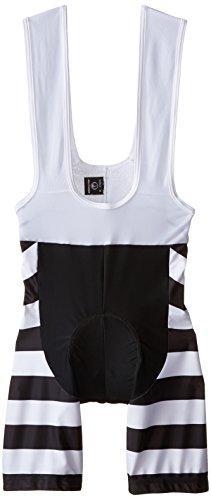 Jolly Wear Alcatraz Bib Shorts, 3X-Large, Prison Stripes by Jolly Wear