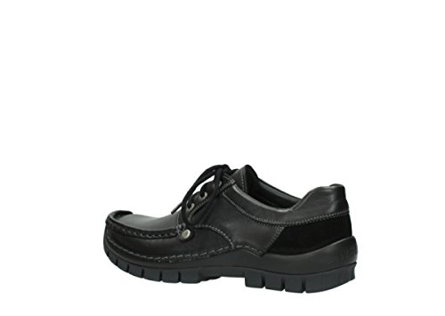 Comfort Shoes Leather Fly up Black Winter 20000 Seamy Lace Wolky BdwTxnvqq