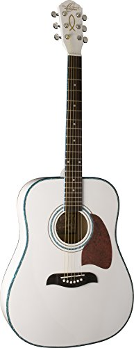 Oscar Schmidt OG2WH-A-U Acoustic Dreadnought Size Guitar. White