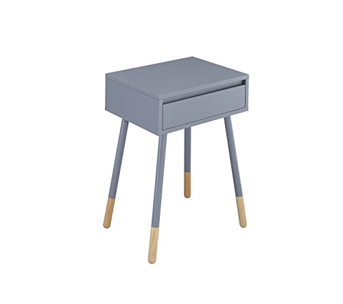 HOMES: Inside + Out IDF-AC176GY Tristina Side Table, Gray Review