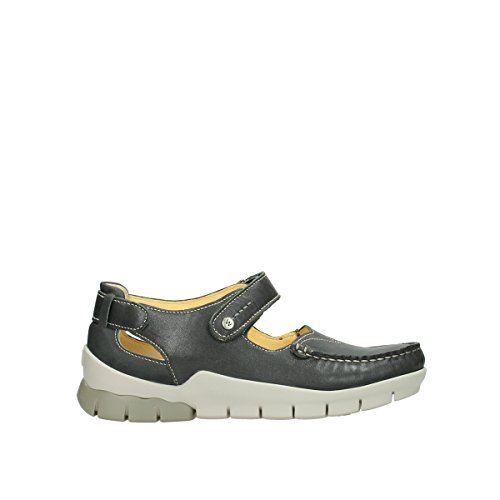 Janes Mary Grey Leather Polina 70200 Wolky Comfort 5ExBqnBz