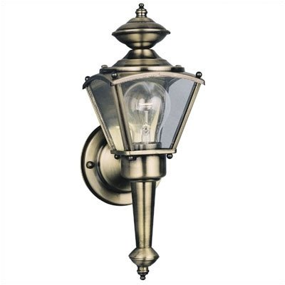 Exterior Wall Lantern in Antique Solid Brass [Set of 2] (Fixtures Outdoor Solid Brass Westinghouse)