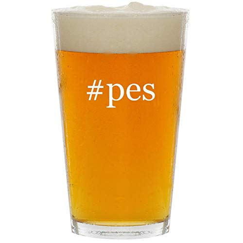 #pes - Glass Hashtag 16oz Beer Pint