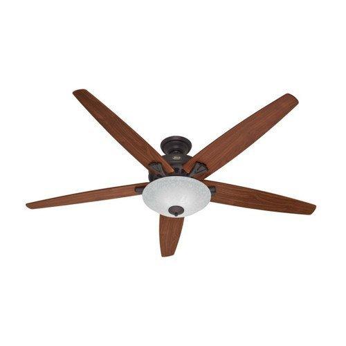 [Hunter Fan Company 55042 Stockbridge 70-Inch Ceiling Fan with Five Walnut/Medium Oak Blades and Light Kit, New Bronze] (Scavo Ceiling Fan Light)