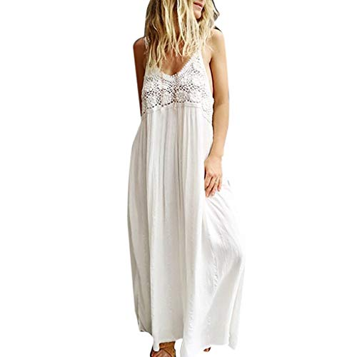Summer Women Rainbow Print Spaghetti Strap Long Maxi Dress Sexy Flowy Beach Sundress with Pockets