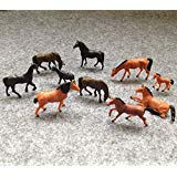 Evemodel AN8702 30pcs 1:87 Well Painted Farm Animals Horses HO Scale ()