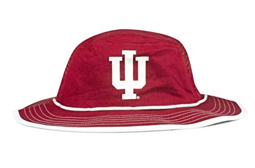 Cowbucker Collegiate Boonie Hat | Officially NCAA Licensed (One Size, Indiana Hoosiers Crimson)