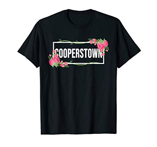 (Cooperstown New York T-Shirt Floral Hibiscus Flower)
