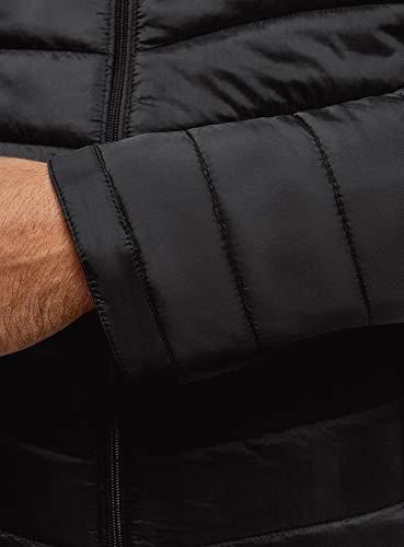 Capuche Ultra 2900n Oodji Noir Homme Matelassée À Doudoune PnCq1S