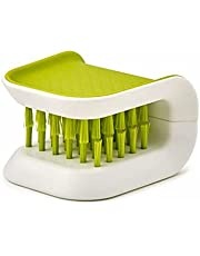 U-shaped double-sided knife and fork cleaning brush, knife cleaning hand guard brush, kitchen cleaning brush (green)