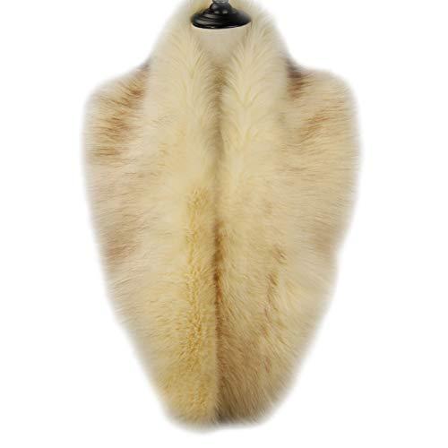 Dikoaina Extra Large Women's Faux Fur Collar for Winter Coat (120cm, Beige) ()