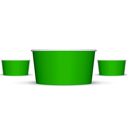 Green Ice Cream - 6 oz Paper Hot/Cold Ice Cream Cups - 100ct (Green)