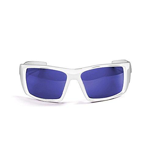 Ocean Sunglasses - Aruba - lunettes de soleil polarisées - Monture : Blanc Laqué - Verres : Revo Bleu (3201.2)