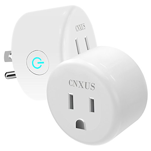 WiFi Smart Plug, [2 PACK] CNXUS Mini Wireless Remote Switch/Smart Socket Outlet, Works with Amazon Alexa and Google Home, No Hub Required, Remote Control by Smart Phone with Timing Function