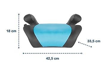 Grau Kindersitz mit BeltHold System Lionelo Luuk Kindersitzerh/öhung 15-36 kg