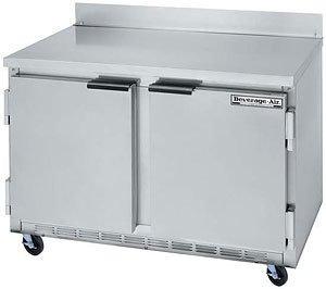 Beverage Air WTF48A 48 in Freezer, 35.5in H Work Top, 2 Section/Door, 1/3 HP