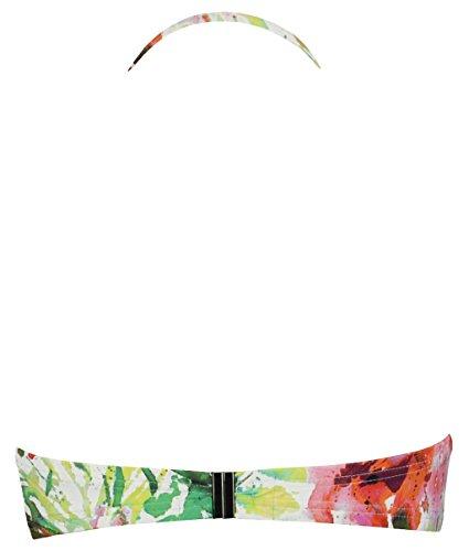 Multicolore Beachwear e con ferretti Bandeau Point reggiseno Donna Bikini Bahamas Red Control foam qfpCx