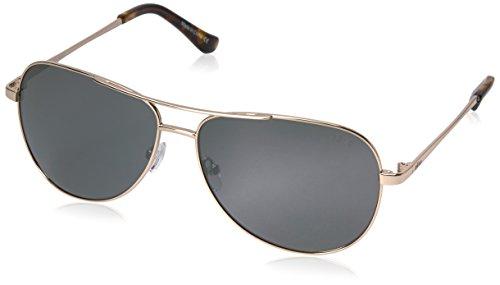 Revo Sunglasses Revo Re 5015 Johnston Polarized Aviator Sunglasses, Gold Graphite, 58 - Sport Revo
