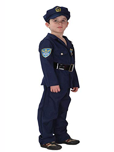 stylesilove Kid Boys Halloween Costume Party Cosplay Outfit Themed Party Birthdays Party (Police Officer, XL/10-12)
