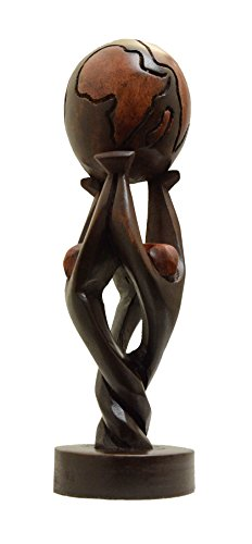 African Unity Globe Wood Recognition Award/Gift 11