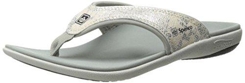 (Spenco Women's Yumi Python Sandal, Silver, 6 M US)
