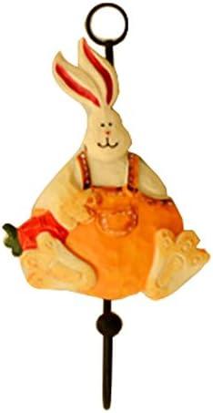 1ピースクリエイティブウサギのユーティリティウォールフック家庭用コートフックウォールカバーフック、H