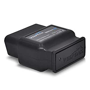 Veepeak OBDCheck BLE OBD2 Bluetooth Scanner Auto OBD II Diagnostic Scan Tool for iOS & Android, Bluetooth 4.0 Car Check Engine Light Code Reader Supports Torque Pro, OBD Fusion, BimmerCode app