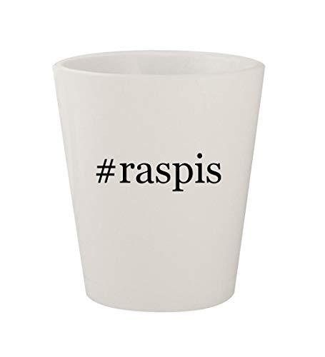 #raspis - Ceramic White Hashtag 1.5oz Shot - Hen Glass Old Raspy