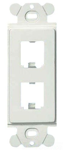 Panduit CFG2WH GFCI 2-Port Plastic Faceplate Frame, White