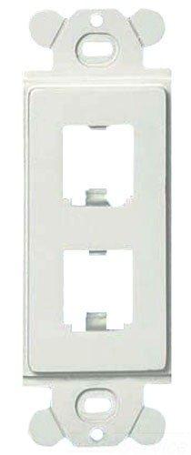 Panduit CFG2WH GFCI 2-Port Plastic Faceplate Frame, White