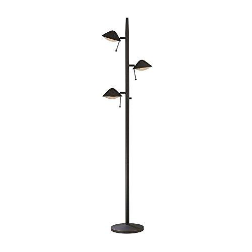 Tree Design Floor Lamps (Adjustable Bronze Floor Tree Lamp with Three Lights)