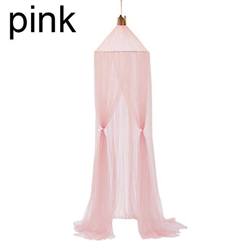 fantasticlife06 Hanging Baby Bed Canopy Mosquito Net Dome Dream Curtain Tent Baby Crib Netting Round Hung Kids Canopy Tent Children Room Decor,Pink