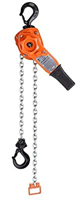 """CM 5320 Steel Lever Operated Hoist, 16-1/4"""" Lever, 6000 lbs Capacity, 5' Lift Height"""