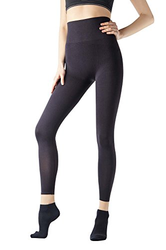 df393030dc MD Women s High Waist Shapewear Compression Slimming Leggings Tight Tummy  Hips and Thigh Medium Control Shaper