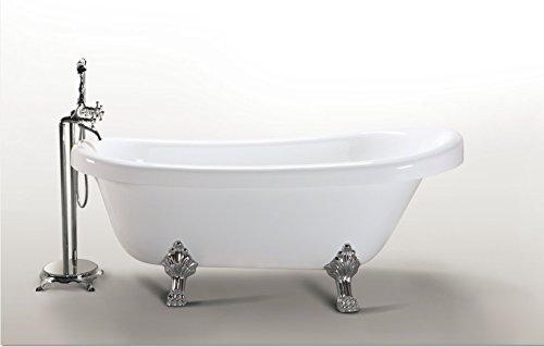 Vasca Da Bagno Retro Prezzi : Vasca da bagno margherita freestanding bianca con piedini colore