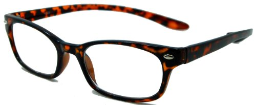 In Style Eyes Rubber Neckin' II Lightweight Reading Glasses With Neck Hanging Flexible Frame
