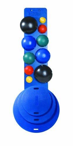 CanDo 10-1904 MVP Balance System, 10-Ball Set with Rack, 16, 20, 30'' Diameter Boards, (2 each Yellow through Black)