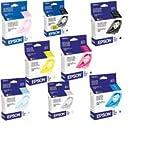 Genuine Epson T034 8 Pack Combo Cartridges Black and Color T0341 T0342 T0343 T0344 T0345 T0346 T0347 T0348 Easy Open Bulk Packaging for Stylus Photo 2200 2100