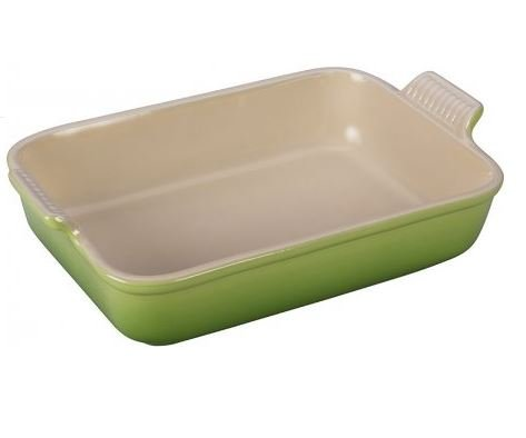 MD Group New Palm Stoneware Heritage 4 Quart Rectangular Dish Deep Sidewalls Create Ample Cooking Space for Casserole