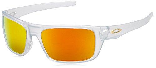 f653fd2d62 Oakley Men s Drop Point Non-Polarized Iridium Rectangular Sunglasses