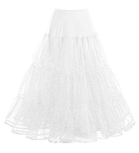 3 annes 100cm Jupon Ivoire Rockabilly tulle 50 vintage longueur tailles Comall choisir Femme en Petticoat SPqgPwF